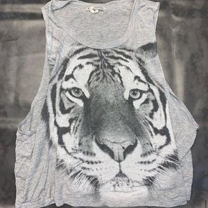gray tiger tank top